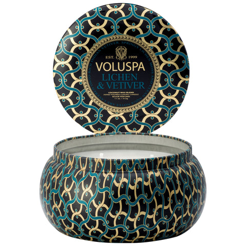 Lichen & Vetiver 2 wick Maison Metallo Candle