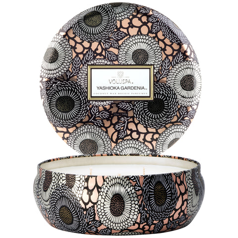 Panjore Lychee 3 Wick Candle in Decorative Tin