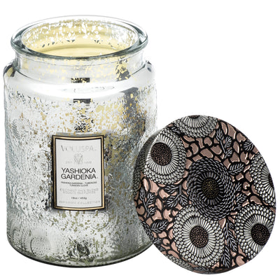 Yashioka Gardenia Large Glass Jar Candle