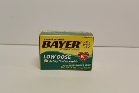 Bayer Low Dose Safety Coated Aspirin 120 tablets