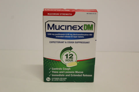 Mucinex DM 14 Extended Release Tablets