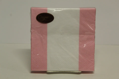 Caspari Striped Pink Luncheon Napkins