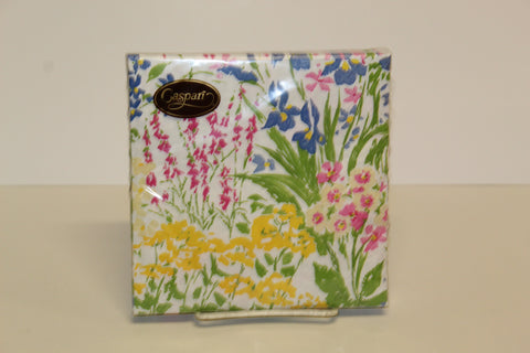 Caspari Meadow Flowers Dinner/Luncheon Napkins