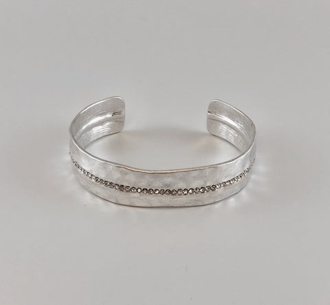 Hammerd Cuff with CZ Sparkle