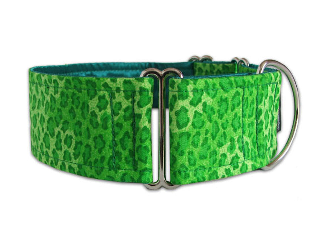 Wild green leopard print collar is perfect for any pooch with a wild side!