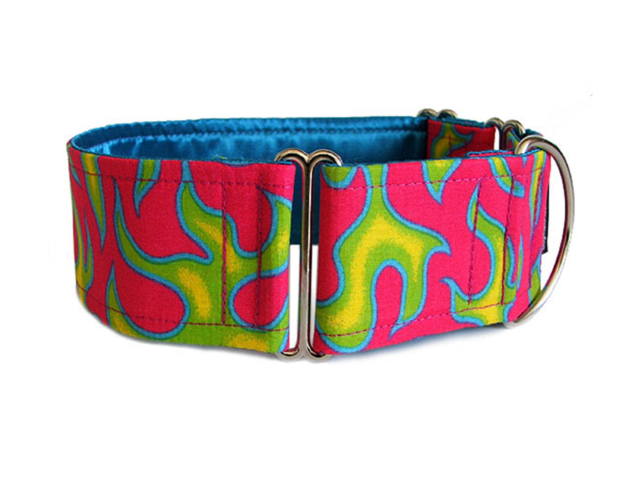 Sizzling green flames on super-hot pink are a hot accessory for your cool pup!