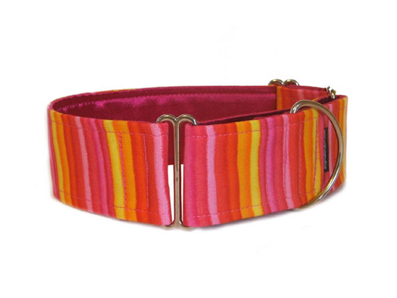 Bright sunny stripes in shades of pink and yellow will have your pooch ready for a day at the beach or pool!