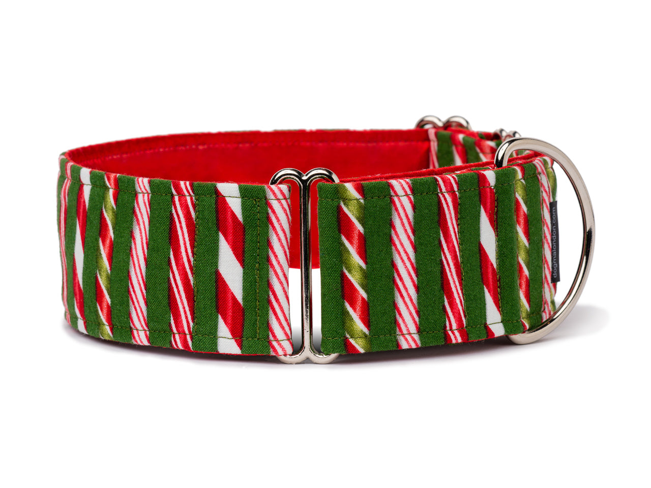 Iconic red and white peppermint sticks are a classic Christmas treat your dog can wear!