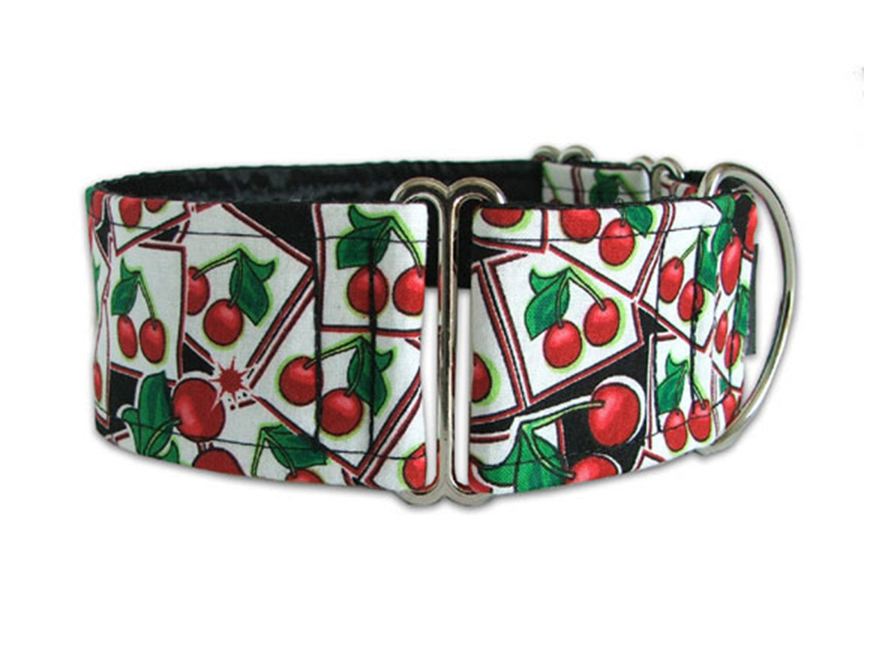 Wearing this lucky cherry collar will make your pooch feel like he's hit the jackpot!
