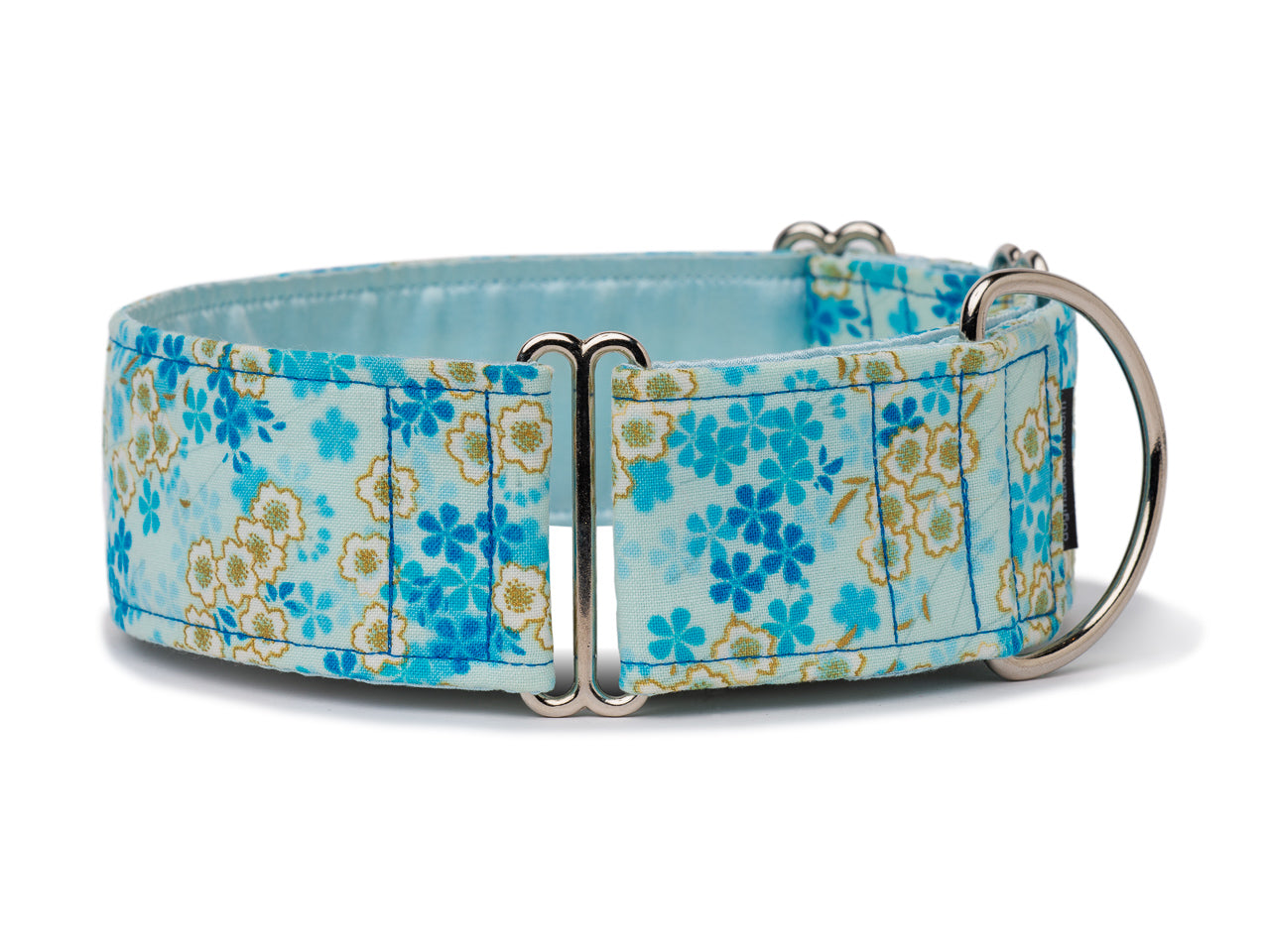 Delicate cherry blossoms in white and blue give any pooch a pretty Asian flair!