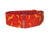 Red-hot dog collar with sizzling red and orange flames.