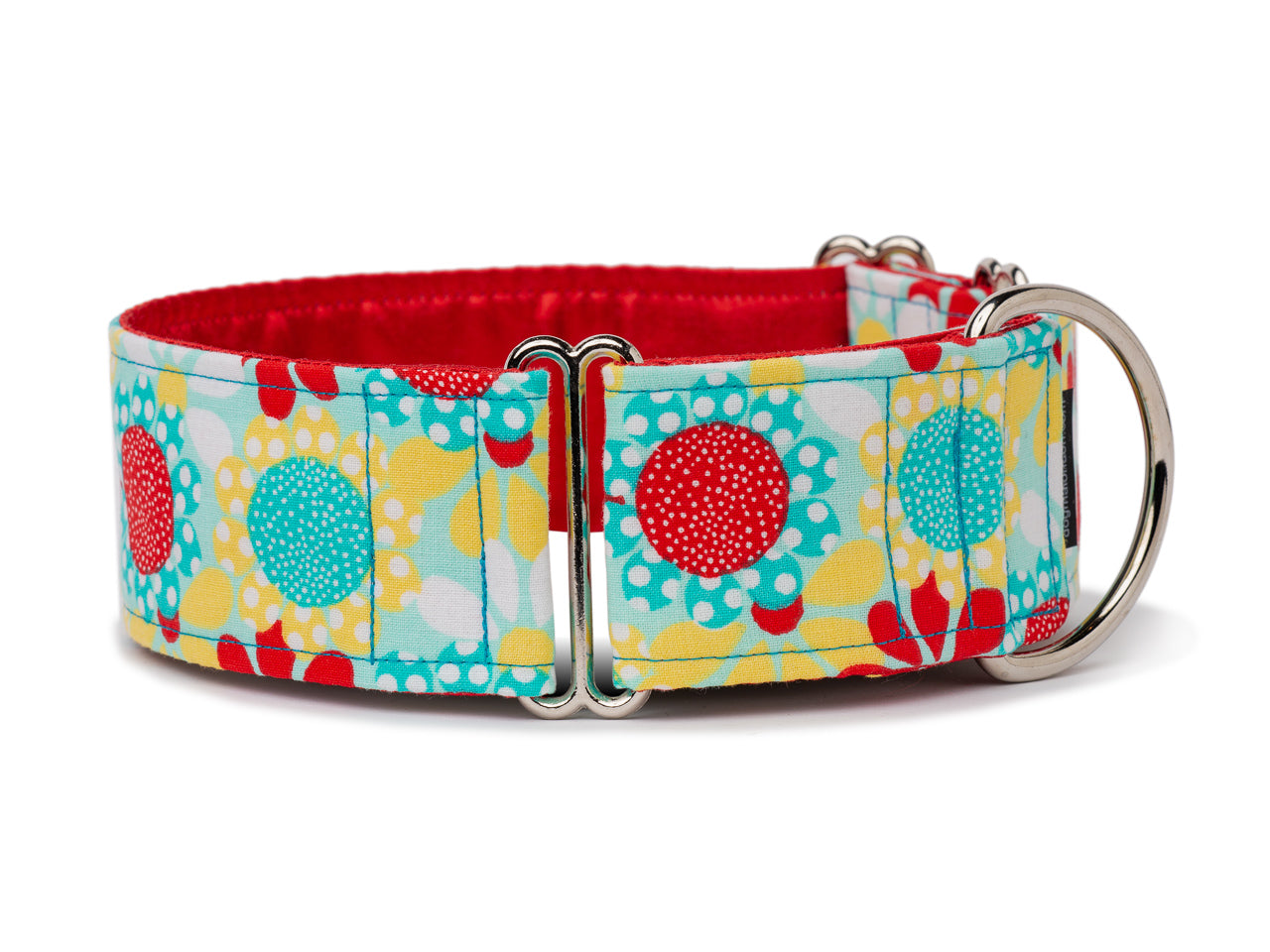 Brighten up your pup's day with these crazy daisies in bright bursts of yellow, blue, and red!