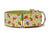 Your pooch will look cute as a bug in this pretty green collar covered with flowers and bright red lady bugs!
