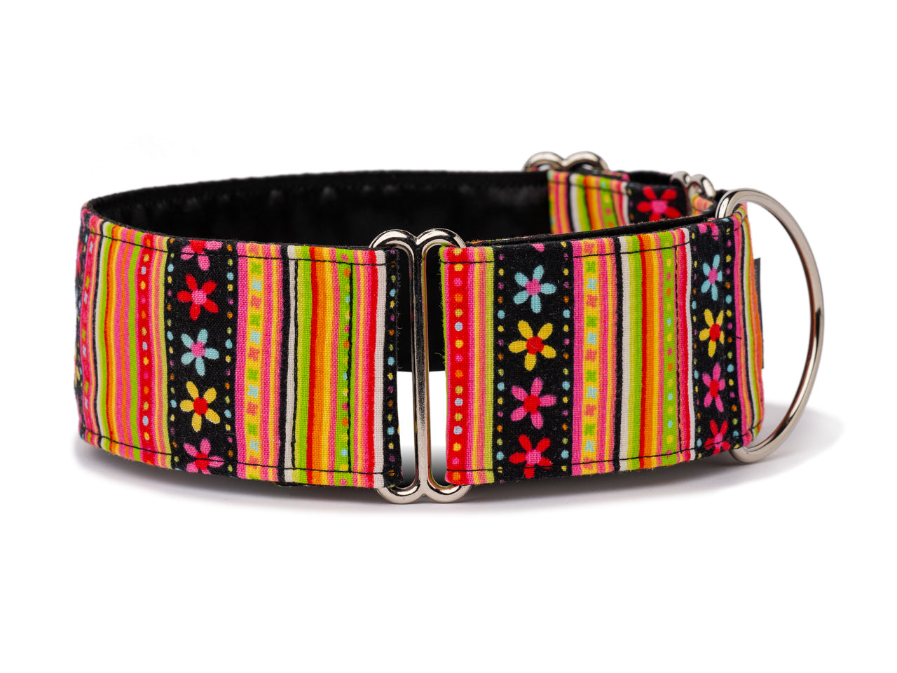 These tiny colorful daisies and stripes are the prettiest accessory for your pretty pooch!