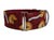 The golden fortune cookies on this rich burgundy collar say your pooch is one lucky dog!