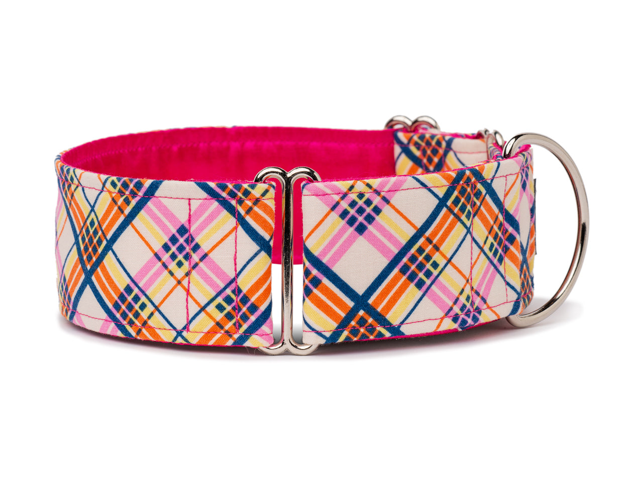Pretty pink plaid is the perfect accessory for the stylish pooch about town!