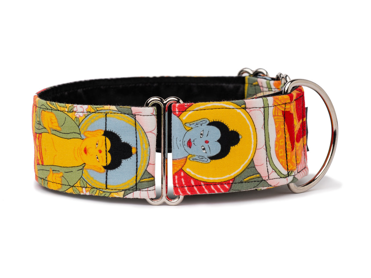 Colorful Buddhas make this cool collar the perfect choice for the enlightened pooch!