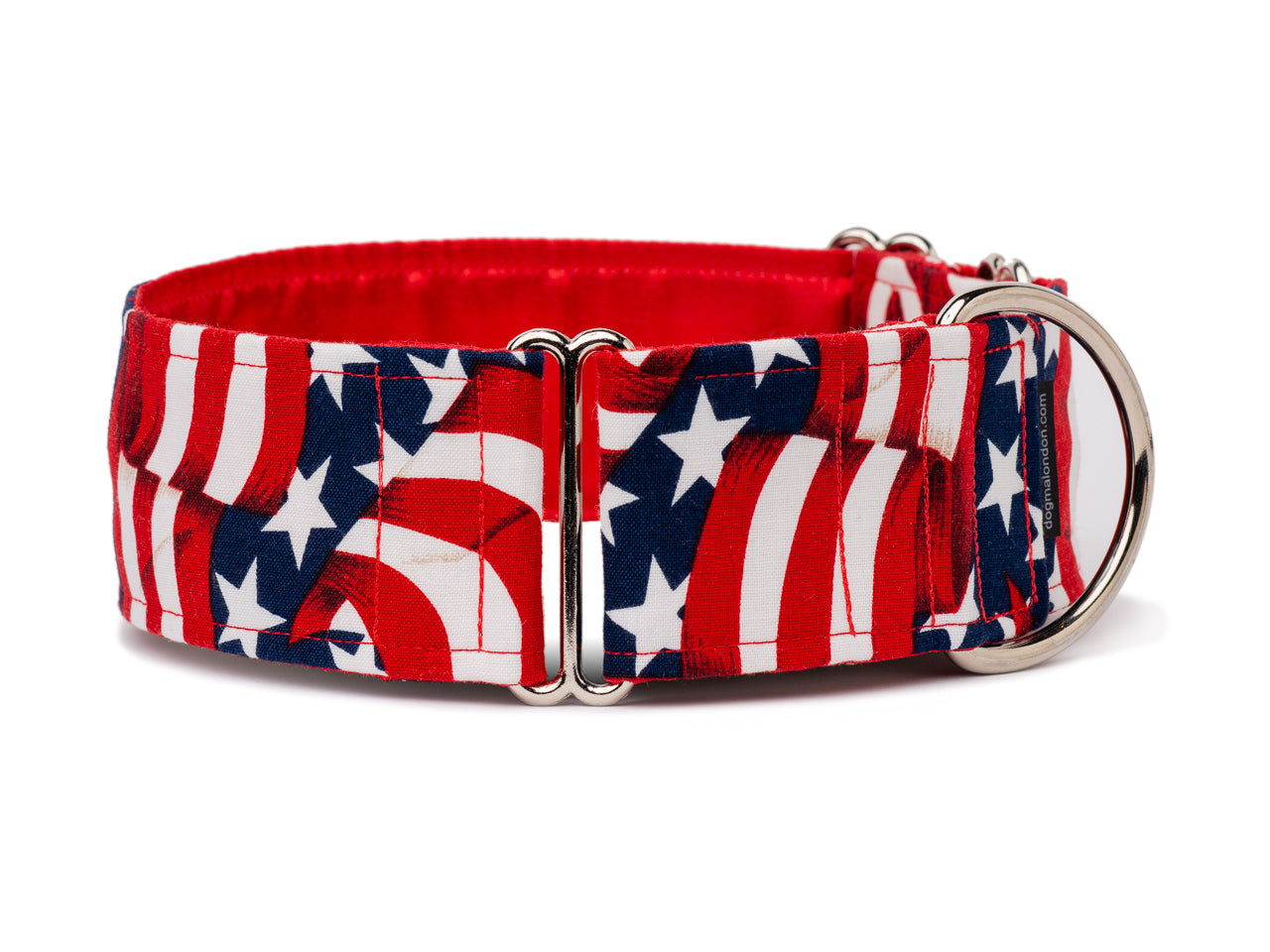 Waving ribbons of red and white and stars on fields of blue are a must for any patriotic American pooch! Perfect for July 4th, Memorial Day, or any time your pup is feeling festive!