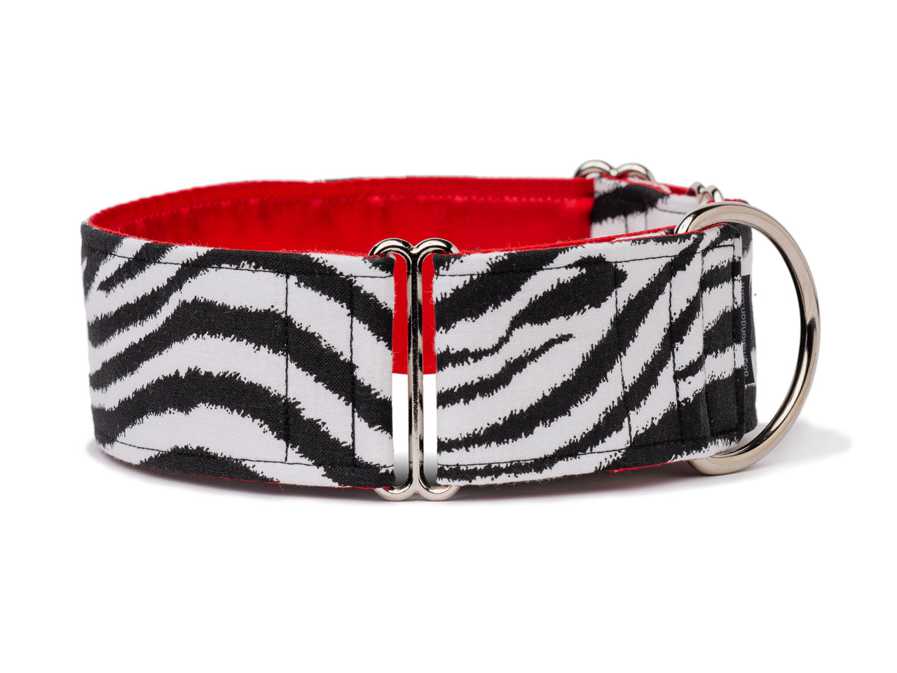 Striking black and white zebra print collar is the perfect accessory for your fashionable four-legged wild child!