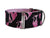 Your pup will be one cool cat in this retro black collar sporting pretty pink hearts!