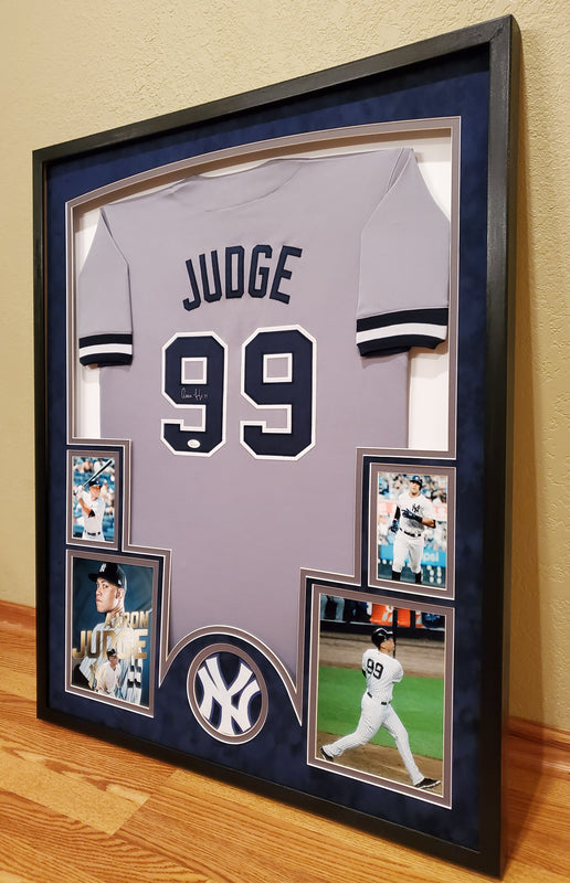 Aaron Judge autographed framed new York yankees jersey