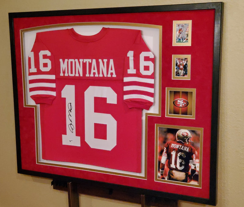 Custom football jersey framing