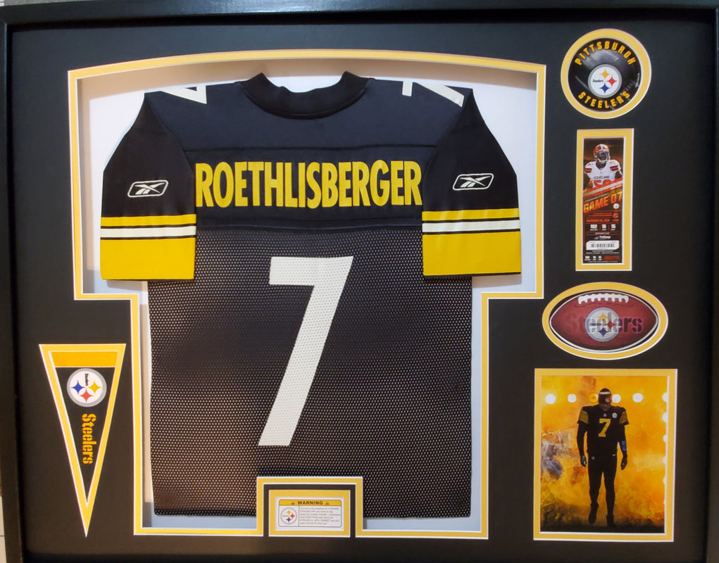 Ben Roethlisberger custom framed Pittsburgh Steelers jersey