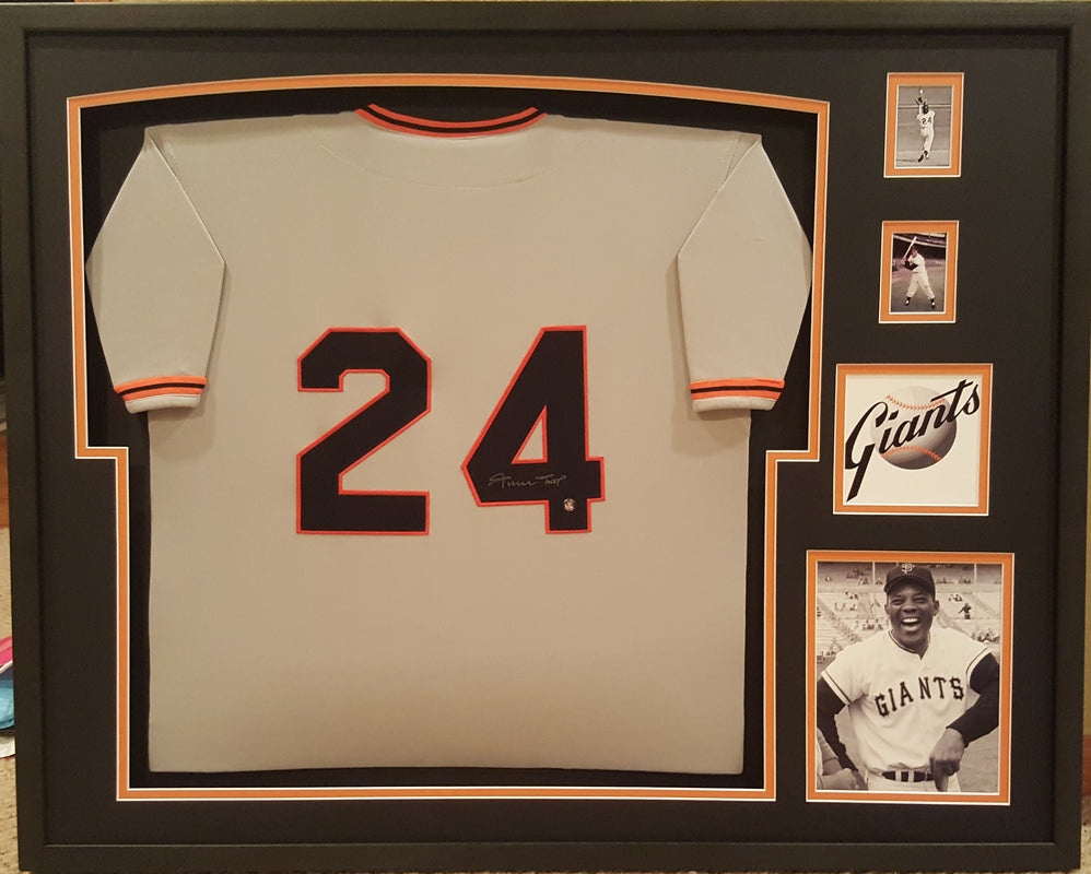 Willie May autographed framed jersey