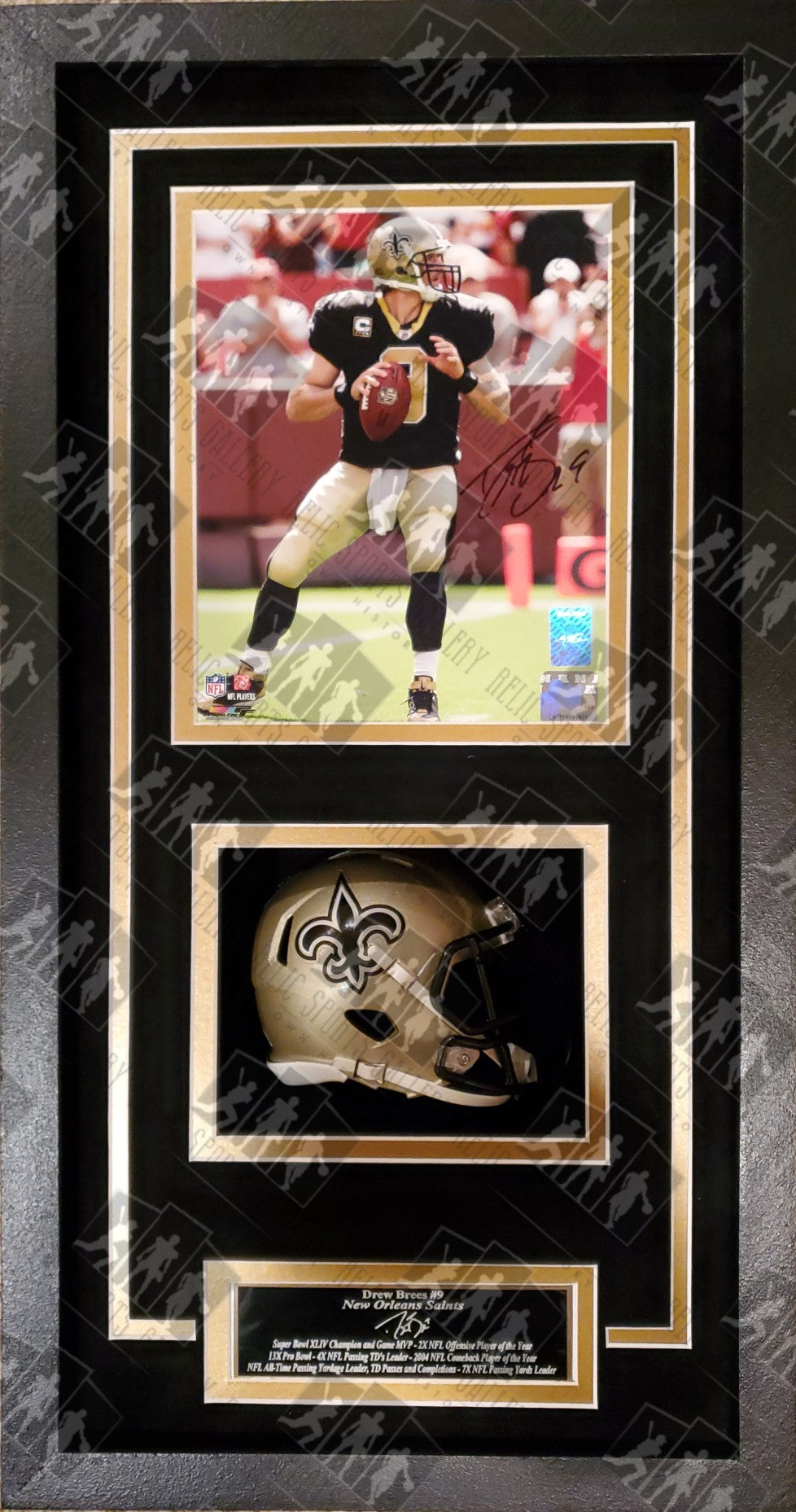 Drew Brees Autographed 8x10 Photo New Orleans Saints