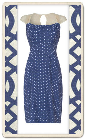 Alessia dress in polka dot silk cotton