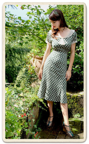 Annabelle dress in emerald fan - location shot