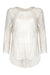 Aria top in ivory embroidered lace - front mannequin