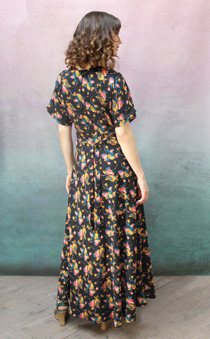 Aurora maxi dress in Bohème bloom print crepe