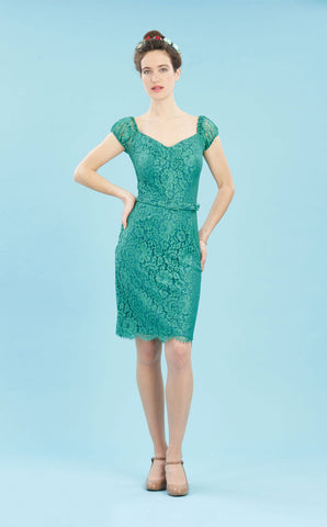 Beaux dress in Shanghai green flower lace