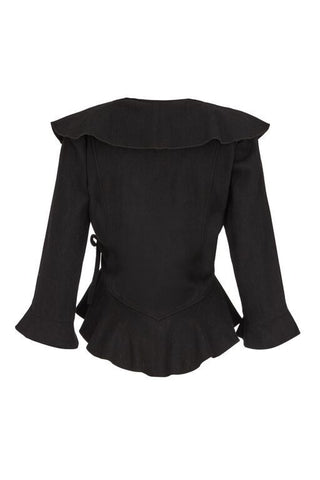 Cassie jacket in black wool