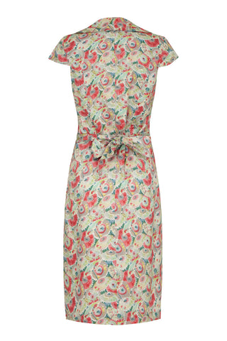 Cleo dress in Parasol Garden silk cotton - mannequin back