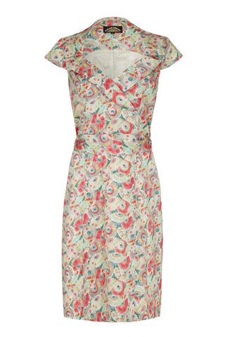 Cleo dress in Parasol Garden silk cotton - mannequin front