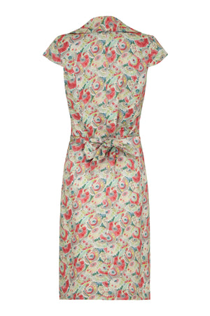 Cleo dress in Parasol Garden silk cotton