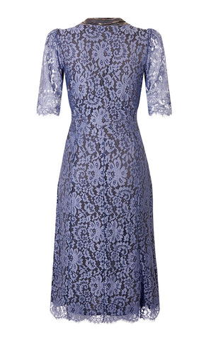 Eliza dress in amethyst lace