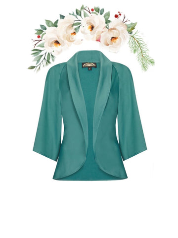 Estelle jacket in Venice blue crepe