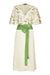 Nancy Mac Florrie wrap dress in meadowflower ivory crepe - mannequin front