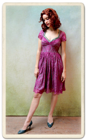 Annie dress in rose lace