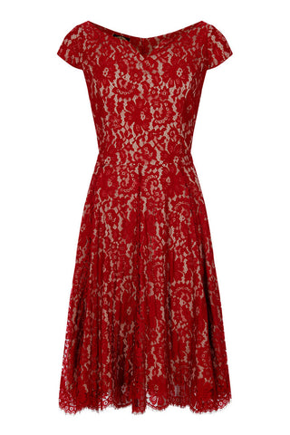 Janie dress in ruby lace