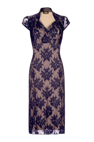 Jasmine dress in French navy lace