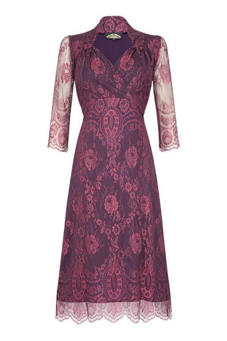 Jasmine dress in rosewood lace