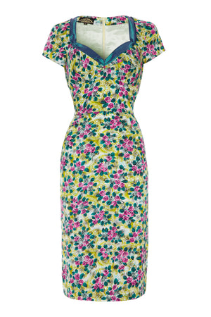 Kelly dress in Rosetti print silk cotton