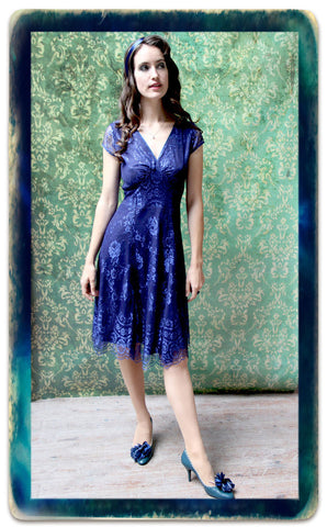 Kristen Dress in Celeste Blue Lace