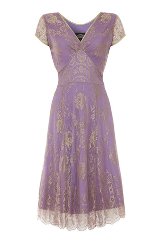 Kristen dress in orchid lace