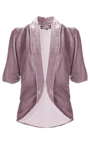 Lilliana jacket in purple powder silk velvet