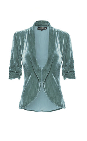 Lilliana jacket in Winter blue velvet